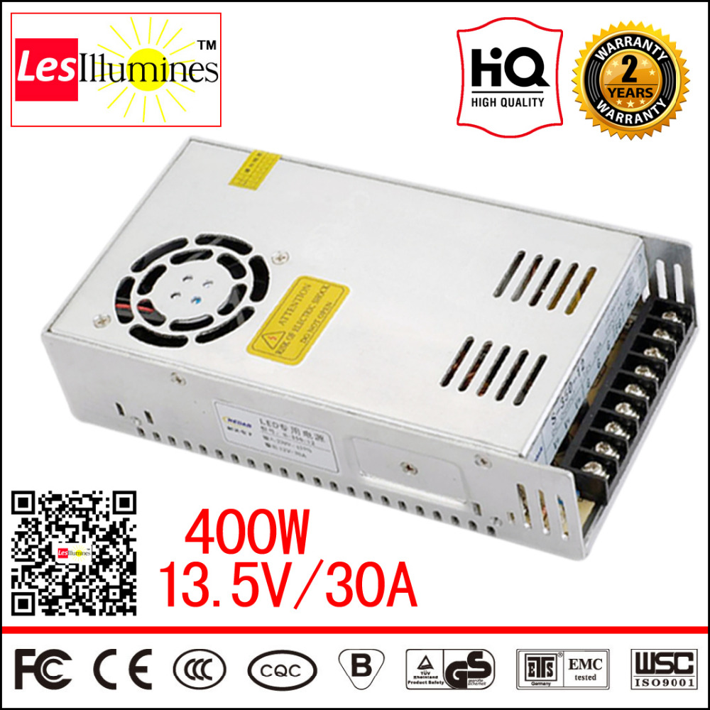110V 220V AC DC 13.5V LED Driver Supply SMPS CE ROHS Approval Constant Voltage Output 13.5V 30A 400W Switching Power Supply<br>