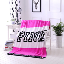 Spring/Autumn Brand VS Secret Pink Coral Fleece Blanket Bed Sofa Picnic Baby Flannel Small Victoria Blanket Swaddle Sleeper(China)
