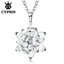 SALE 50% OFF latest design popular fashion silver necklace 18inch pendant charm necklace jewelry women lady gift xmas CYPRIS(China)