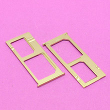 YuXi Golden sim card socket memory card reader holder slot tray connector for Xiaomi Note Cell phone(China)