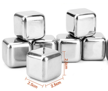 4Pcs/lot Whiskey Wine Beer Stones 440C Stainless Steel Cooler Stone Whiskey Rock Ice Cube Edible Alcohol Physical Cooled