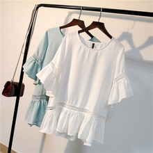 Buy MISSFEBPLUM New Style Womens Summer Tops Blouses 2018 O Neck Casual Chiffon Blouse Shirt 4XL 5XL Plus Size Women Clothing for $13.25 in AliExpress store