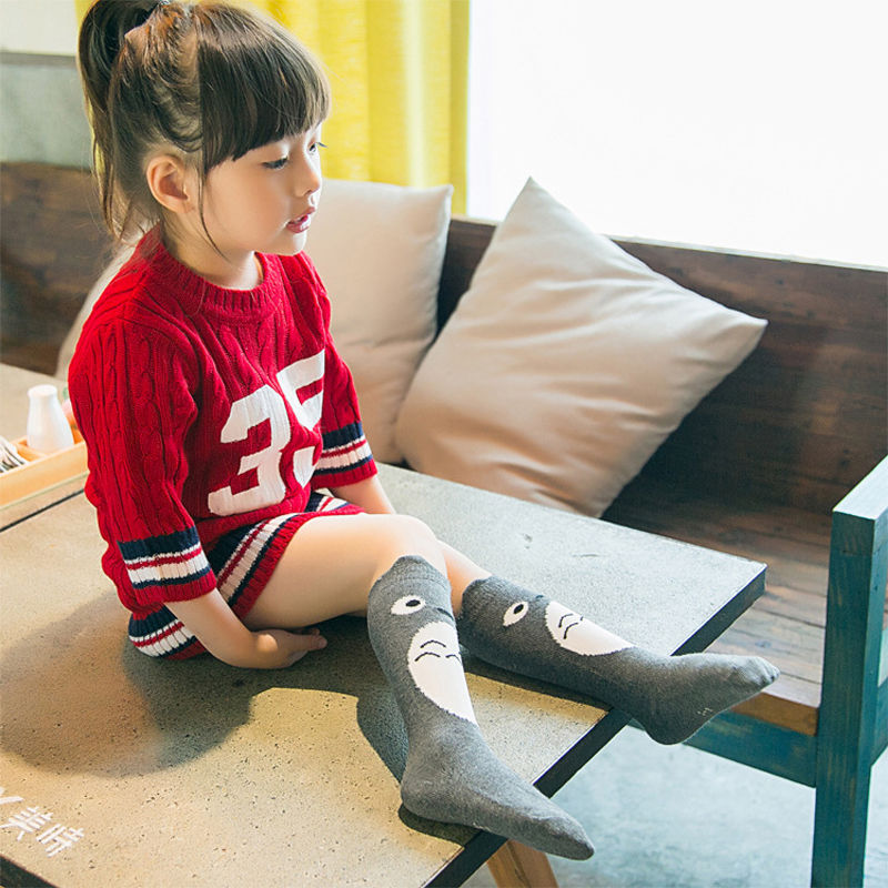 Fashion 0-4 Years For Toddlers Kids Girls Knee High Combed Cotton Socks Hosiery