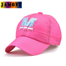 JAMONT Top Brand New Summer Baseball Caps Letter M Embroidery Colorful Outdoor Quick Dry Sun Visor Hats Boys Girls Birthday Gift(China)