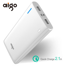Aigo K200 20000mAh Large Capacity quick charge power bank External Battery Backup Portable Dual USB Powerbank Mobile Phones