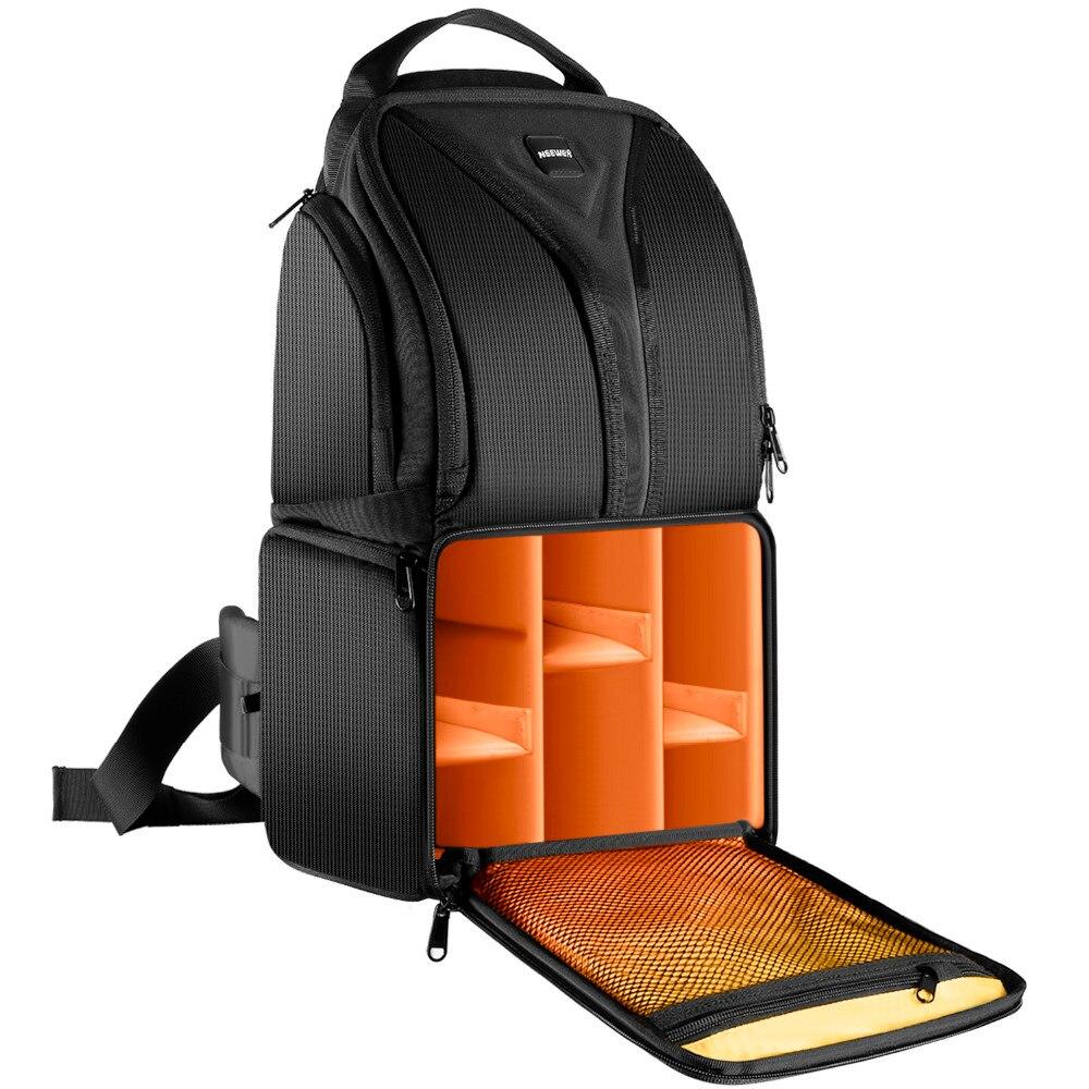 Neewer camera bag 24.9x20x42.9 cm shoulder backpack Durable Waterproof Black for Nikon Canon Pentax Sony Olympus DSLR <br>