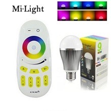 Original E27 9W RGBW RGBWW Mi Light Smart LED lamp AC 85V-265V 2.4G RF Wifi Remote Control Smart Bulb Night Atmosphere lighting