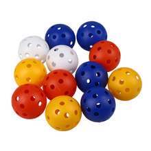 50Pcs Plastic Airflow Hollow Golf Ball Practice Indoor Training Balls Golf Accessories