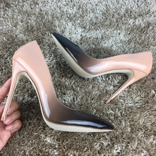 2017 Brand Shoes Woman 12Cm High Heels Women Pumps Stiletto Thin Heel Women's Shoes Pointed Toe High Heels Wedding Shoes(China)