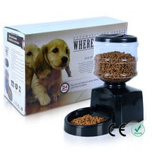 5.5 Liter Large Automatic Pet Dog Cat Feeder Electronic Portion Control Voice Recordable smart LCD Screen drop shipping