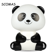 SCOMAS Mini USB Light Speaker Portable USB Gadgets Creatived Cute Panda Tiger with 3.5 Headphone Jack 3 for Kid Baby Gift Color(China)