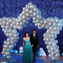 shimmering Tinsel Curtain Foil Room Shiny Pub party Stage wedding decoration backdrop Background