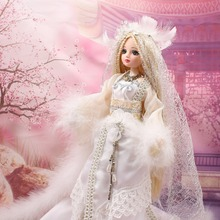 "Fortune days doll East ""Swan Lake"" Pricesses Swan Odette, including clothes, stand and box, 35cm"