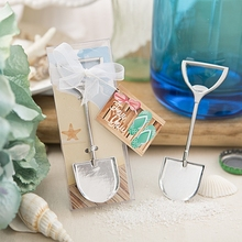 100pcs+NEW ARRIVAL Silver Sand Shovel Metal Bottle Opener Beach Wedding Favors+FREE SHIPPING