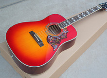"41""Folk Acoustic Guitar with Cherry Sunburst Color,Chrome Hardwares,White Bling,Offer Customized(China)"