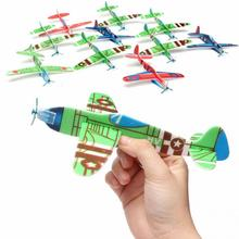 Fantastic10 pcs/lot Flying Glider Planes Aeroplane Party Bag Fillers Childrens Kids Toys Game Prizes Gift Model promotion