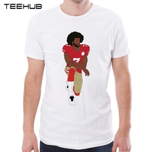 Newest Fashion Colin Kaepernick Kneeling Men T-Shirt Funny Printed Tops Short Sleeve T Shirts Hipster Cool Tee(China)