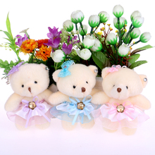 Toys for girls cute lovely teddy bear plush toys doll kid doll flower bouquets bear For Christmas Gift doll cute bears(China)