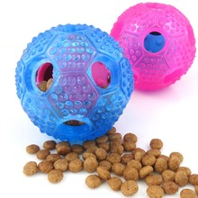 Hot Trumpet Sound Leakage Food Ball Dog Toy Pet Shrieking Ball Puzzle Resistant Teeth Bite Dog Toys Pet Product Supplies(China)