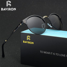 BAVIRON 2017 Retro Classic Sunglasses Man Designer Women Sunglasses Aluminum Polarized Sun Glasses Driving UV400 Gafa Oculos 036