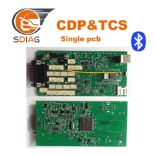 2014.R2/2015.R3 New vci single pcb With Bluetooth tcs SCANNER TCS CDP Pro Plus For Cars/Trucks +Carton Box