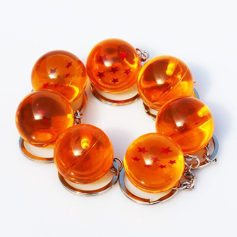 7pcs/lot Dragon Ball Z  1 2 3 4 5 6 7 Stars Crystal Balls PVC Figure Toy With Keychain 2.5cm <br><br>Aliexpress