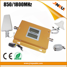 Cheap Price Free shipping LCD GSM/DCS 850mhz/1800mhz dual band mobile phone signal booster repetidor sinal celular+antenna+Cable