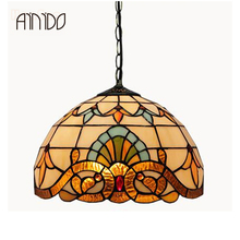 New Vintage Novelty Creative Tiffany Pendant Light Multicolour Glass Lampshade Pendant Lighting Lamp For Home Bedroom Wholesale