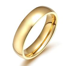 gold color Plated Wedding Finger Ring Classic Tungsten Carbide Ring Stainless Steel Wedding Rings For Wen Women High Quality