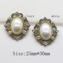 Fashion hot sale 10pc Retro color shiny rhinestone button pearl button Wedding Decoraation clothing metal button DIY Accessories(China)