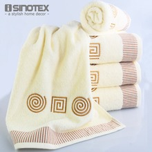3pcs/lot 100% Pure Cotton Towel Sets Embroidered Hand Cloth Bath Towels Facecloth Bathroom Brand Washcloth toalha Geometrical