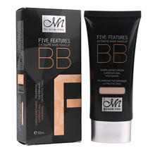 5 Colors Face Liquid Bb Cream Professional Korean Make Up Maquiagem Maquillaje Coreano Naked Foundation Moisturizer Brightening