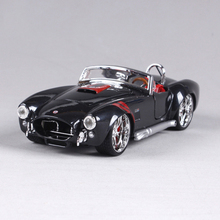 1:24 Diecast Model 1965 Shelby Cobra 427 Black Alloy Car Metal Toys gift modified car simulation model For Collection