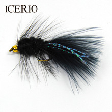 Fishing-Lures Streamer Tail-Salmon Woolly Bugger Flies ICERIO Flashabou Bead-Head Crystal