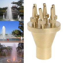 "1"" DN25 Sprinkler Fountain Nozzle 2 Tier Center Straight Garden Water Spray Head"