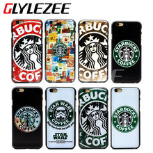 8 Colors Starbuck Star Wars Coffee Design Style Plastic Cellphone Cover Case Back Cover Protect Case for iPhone 6 6S Plus