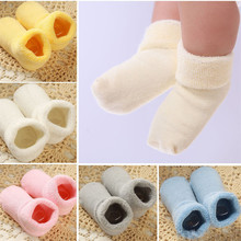 1 Pair Baby Girl Boy Newborn Born Toddler Infant Winter Warm Boots Toddler Infant Soft Socks Booties Shoes for 0-2 Years