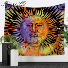 Miracille Sun Moon Hippie Tapestry Bohemian Wall Hanging Decor Colored Beach Blanket Collage Dorm Throw Tapestries Table Cloth