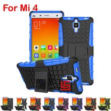 Cheap Armor Rugged Hybrid Hard PC TPU ShockProof Holder Stand Phone Mobil Case Cover For Xiaomi Xiomi Xiami Mi4 Mi 4 White Red