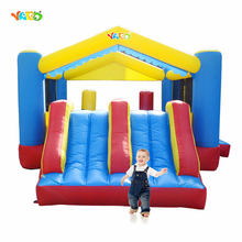 YARD Kids Outdoor Play Inflatable Trampoline with Slide Jumping House for Children Toys Inflatable Bouncer for Outdoor Sports(China)