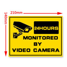 Buy New Warning Security Signs-Window Stickers CCTV Camera HOME Security-24hr Surveillance System CCTV Alert Sign for $1.89 in AliExpress store