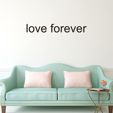 love forever DIY Wall Stickers Home Decor Vinyl Art Mural Decal Removable Romantic text living room bedroom wall stickers