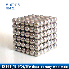 Free DHL Fedex 20pcs/lot 216PCS 5MM Magic Cubes Magnet Balls 5MM Silver Cube DIY Toys