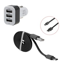2016 the New 3 Port USB Car Charger  power inverter  car charger usb  auto charger carregador veicular  Free Shipping  Vicky