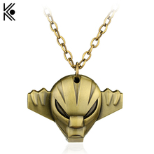 Anime Cartoon Ultimate Super Soul Mask Metal Pendent Necklace Robot Series Alloy Toy Necklace for Men and Women Gift