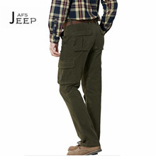 AFS JEEP Man's Autumn cool weather working cargo pant,Mid Waist Resist wear Pocket trousers,High Quality 100% Natural Cotton