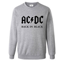 Mens Music Letter AC/DC band rock Printed Sweatshirt Men Autumn acdc Graphic O-Neck Hoodies Sweatshirts women loose hoody