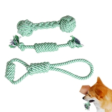 Cotton Rope Pet Dog Toys 3pcs/set Rope Toy Knot Chew No poison Teething Toys Teeth Cleaning Dog Accessories(China)