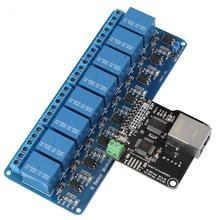 Ethernet Control Module LAN WAN Network WEB Server Control Module RJ45 Port and 8 Channel Relay Control Module(China)
