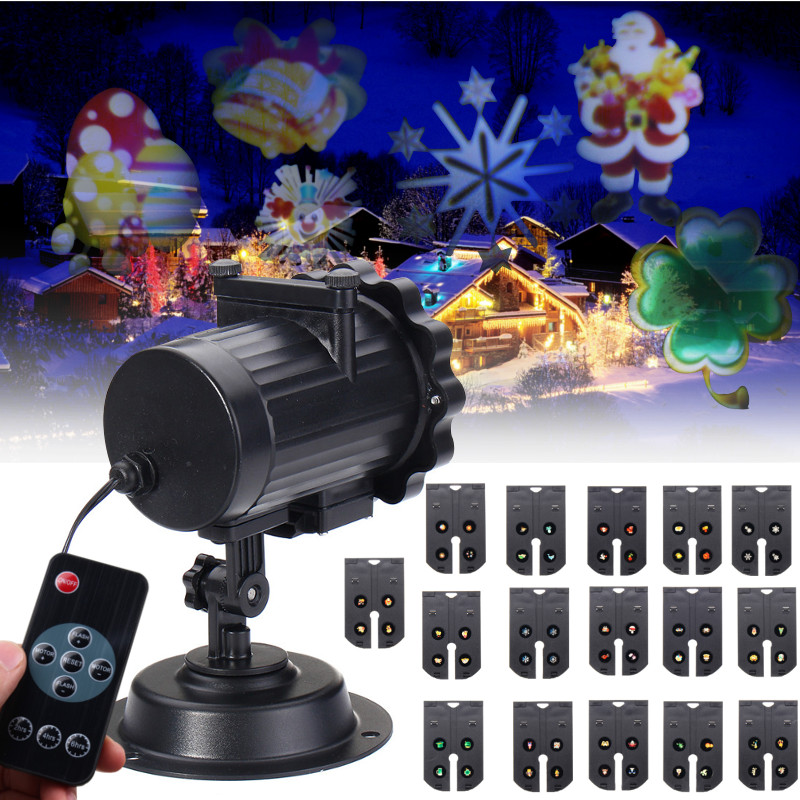 Smuxi 16 Patterns LED Laser Projector Light Landscape Projector Lamp Christmas Halloween Party Decoration Outdoor Waterproof<br>